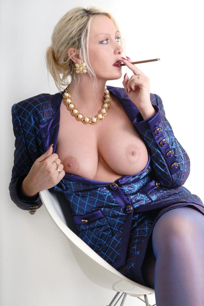 Bikini Girl Nikita Valentin Posing And Smoking A Cigarette