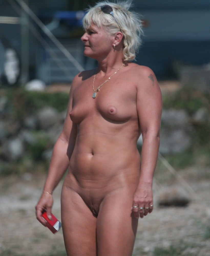 Mature nudist older woman