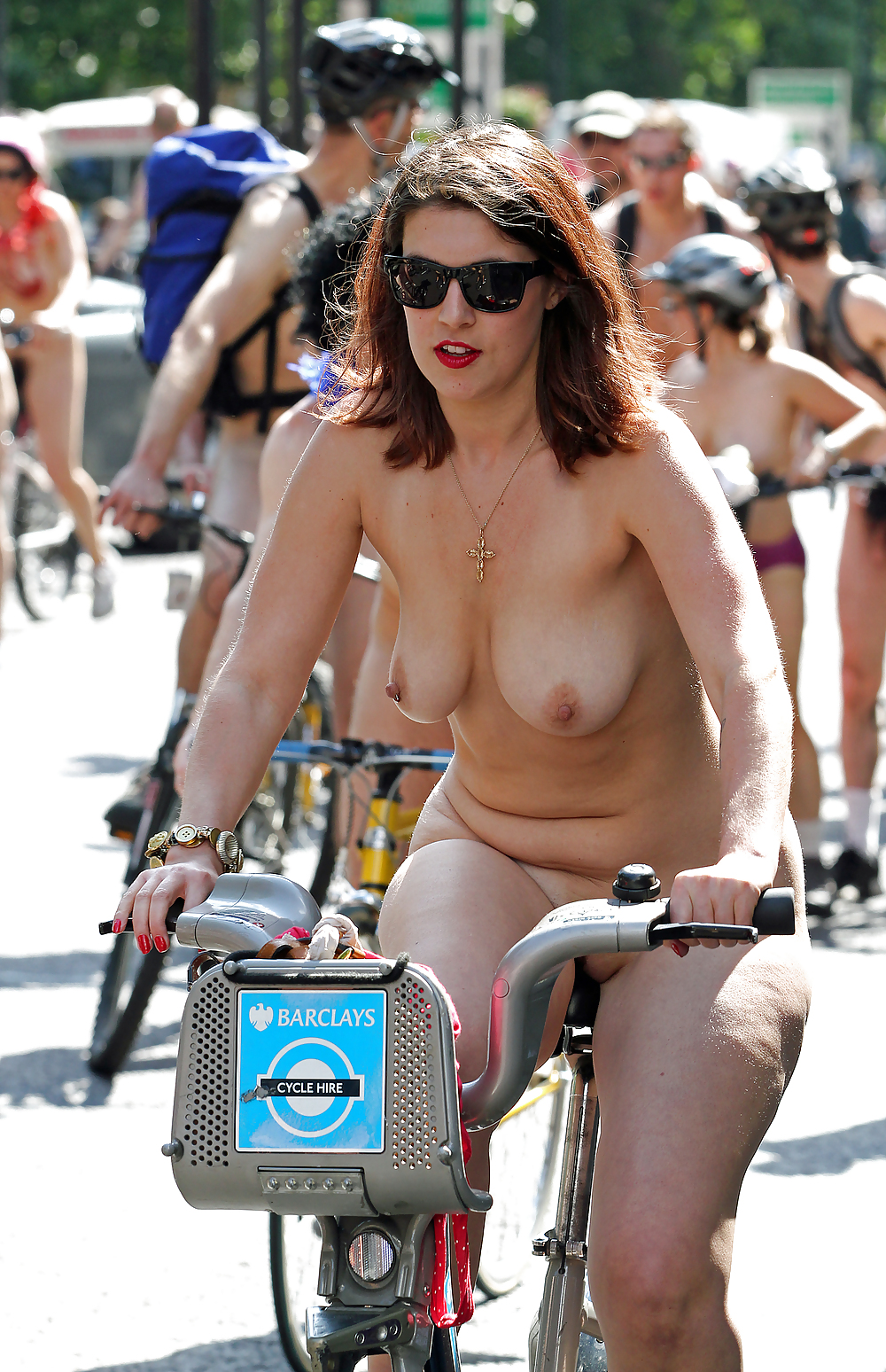 Naked naked milf riding a bike sister