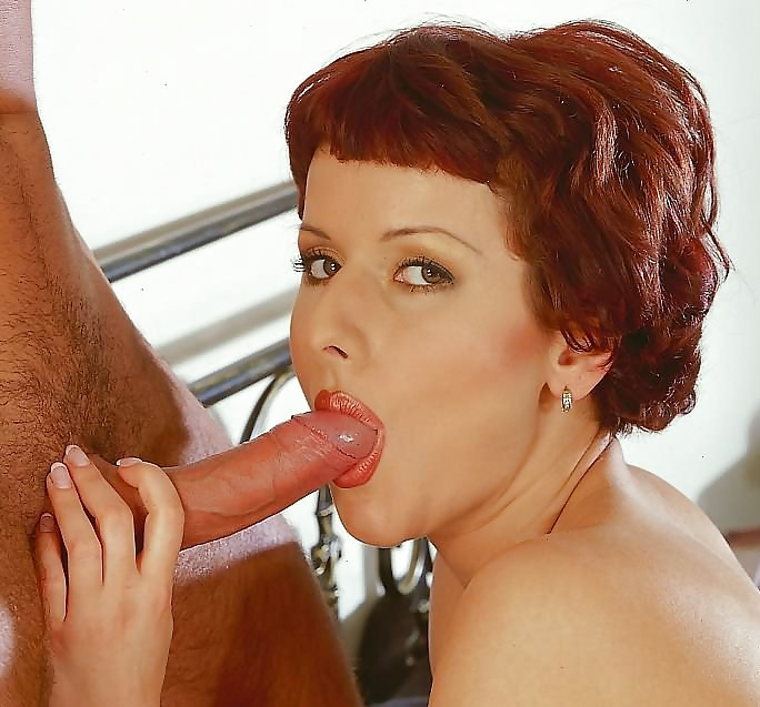 Mature Redhead Sucks And Rides Hard Dick Of Young Neighbor