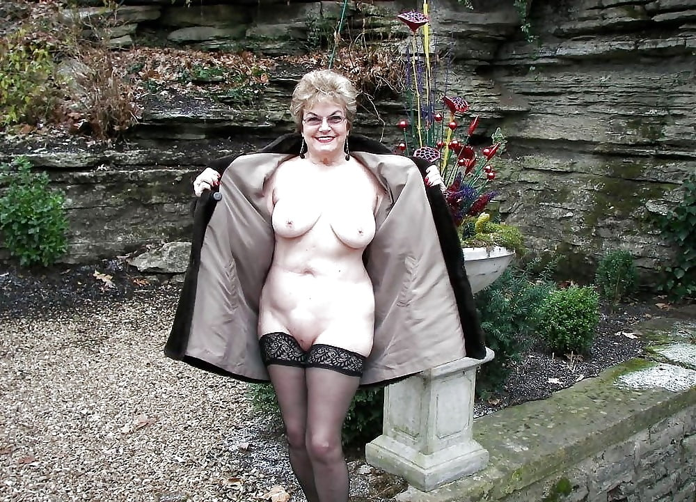 Fat mature naked outdoor