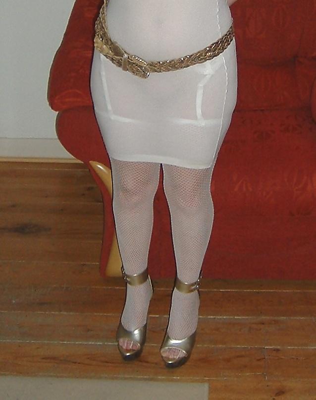 Black and gold platform heels