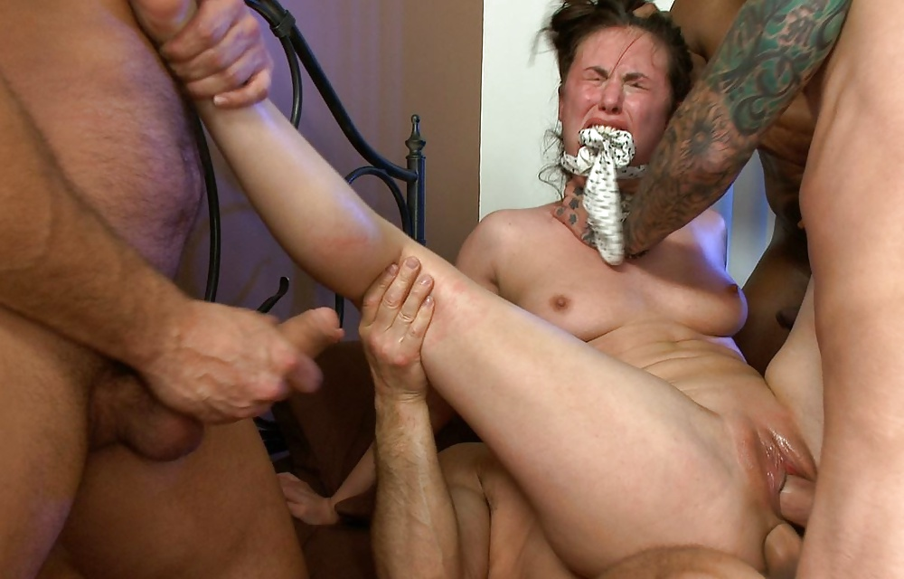 Trailer trash mom public gangbang