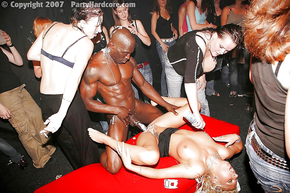 Underground black fuck party