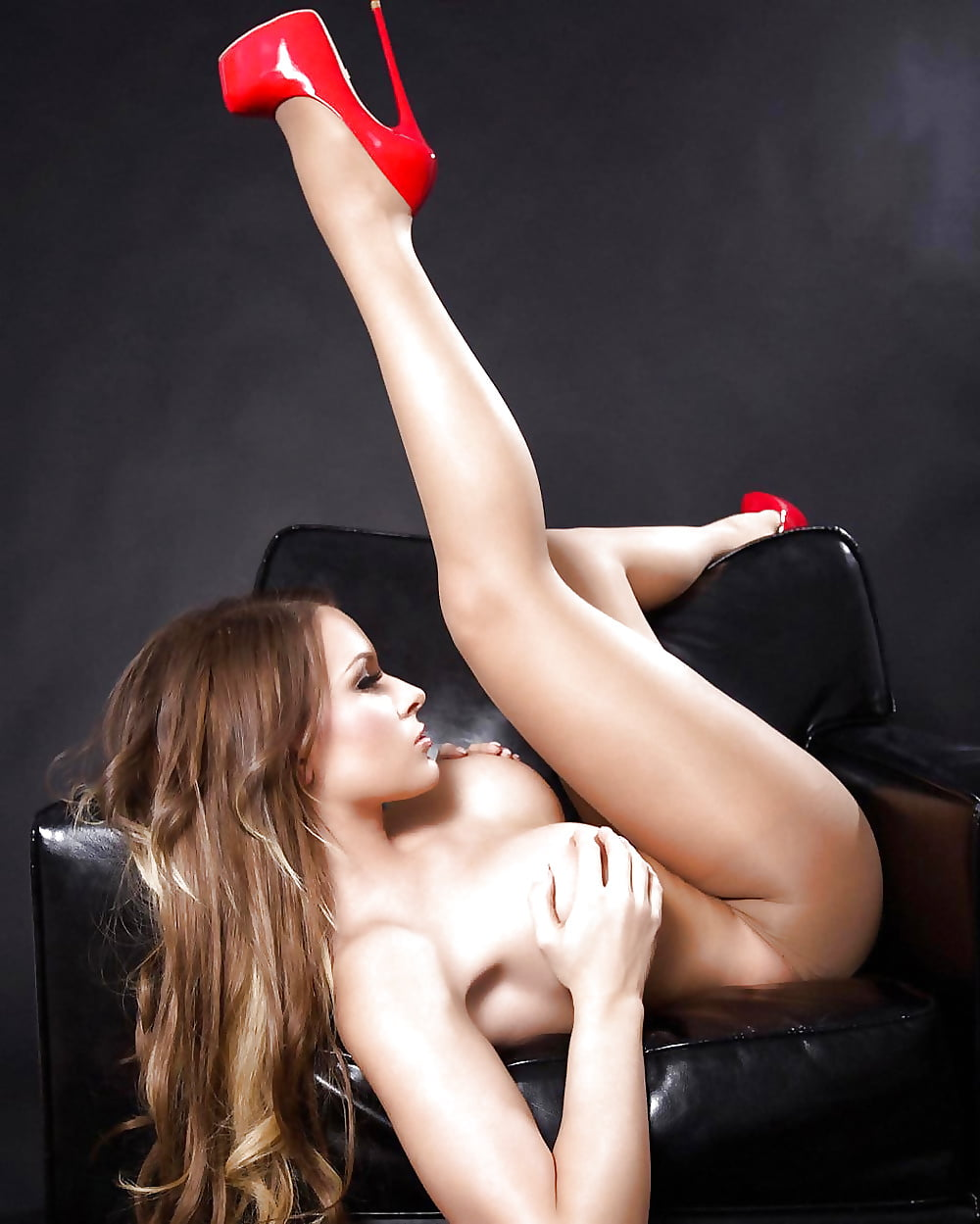 Casana lei in nothing but high heels