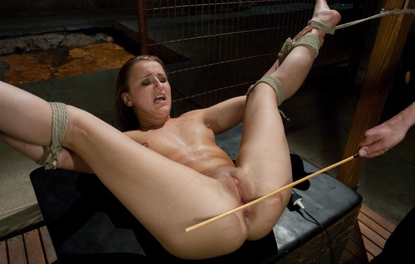 Master Pulls On Horny Slave Her Pussy Lips And Let Her Suck His Cock While Other Guy Hit Her