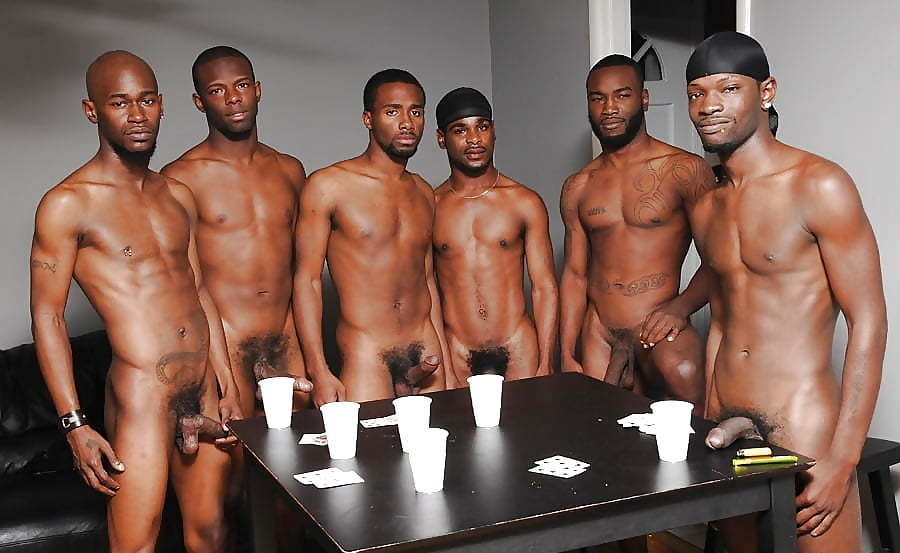 Black thugs caught naked