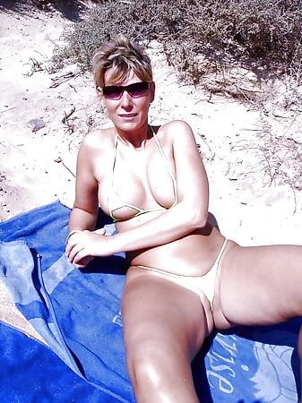 wearing skimpy a was bikini She