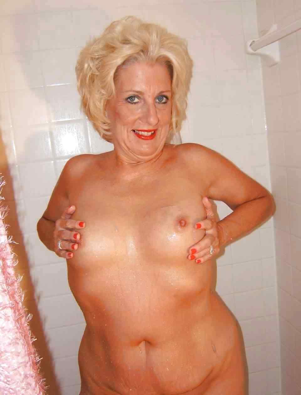 Grandma sexy shower pic — 4