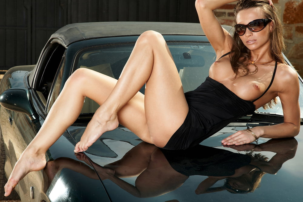 Dodge Viper And Hot Nude Model Wallpapers