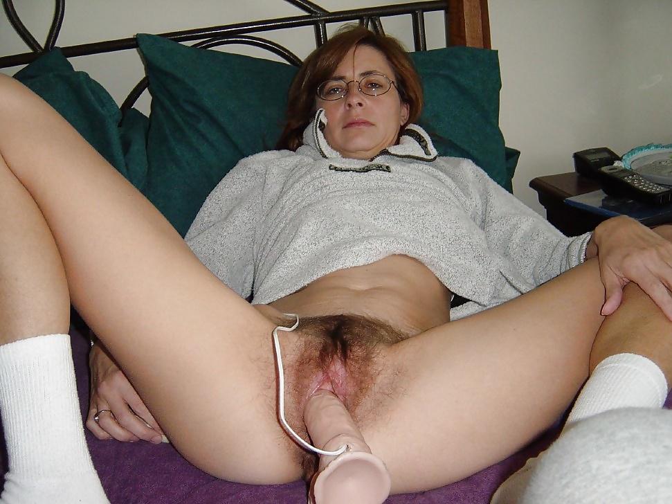 Hairy pussy masturbation