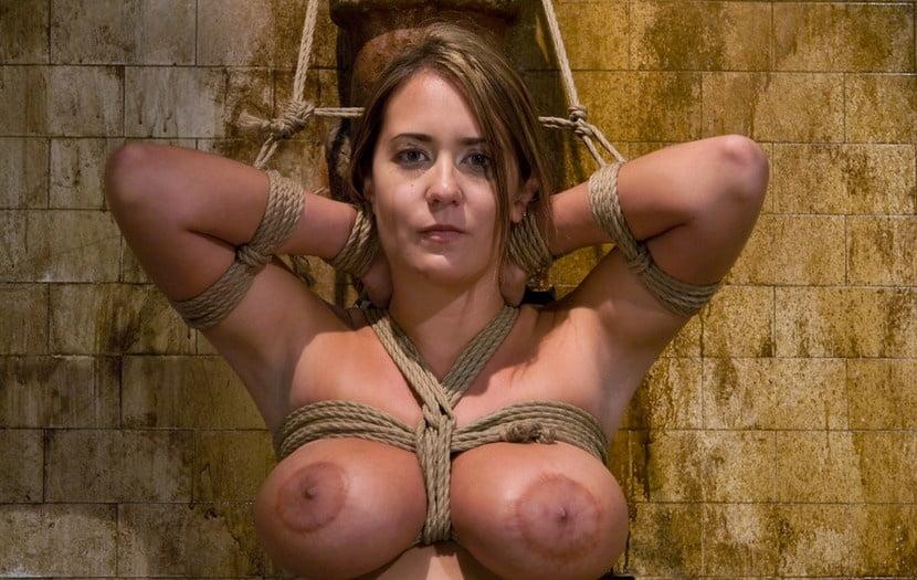 Brutal BDSM Wench Tit Punching