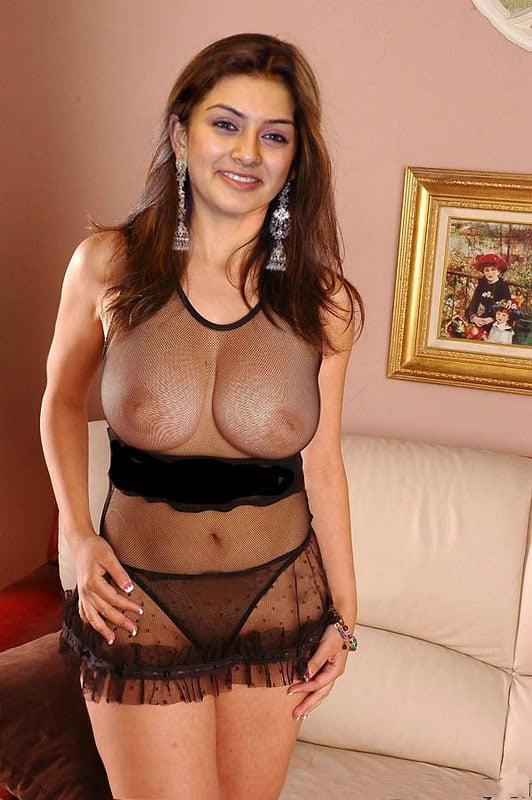Hansika big boobs pressing
