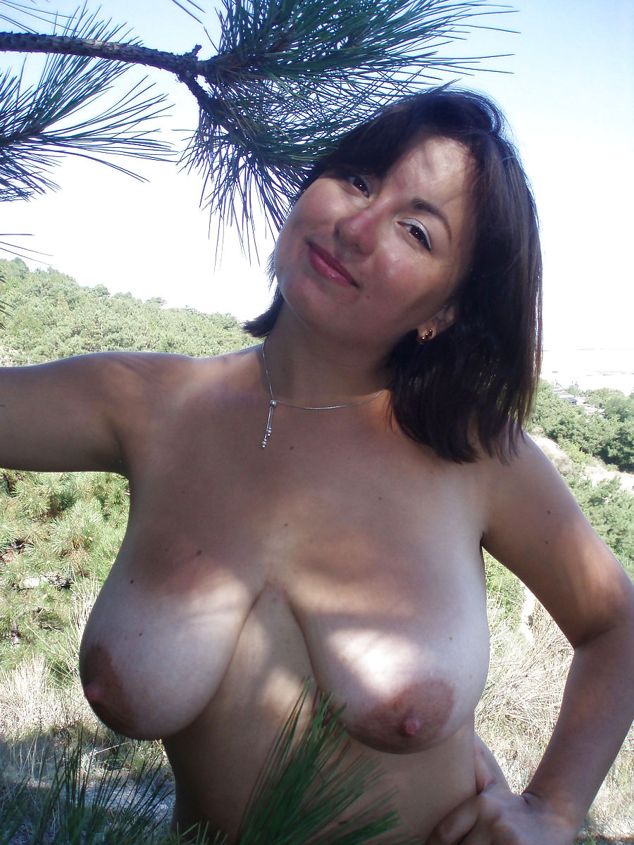 Mature wife big boobs Mature Wife With Big Boobs Posing Outdoors 18 Pics Xhamster