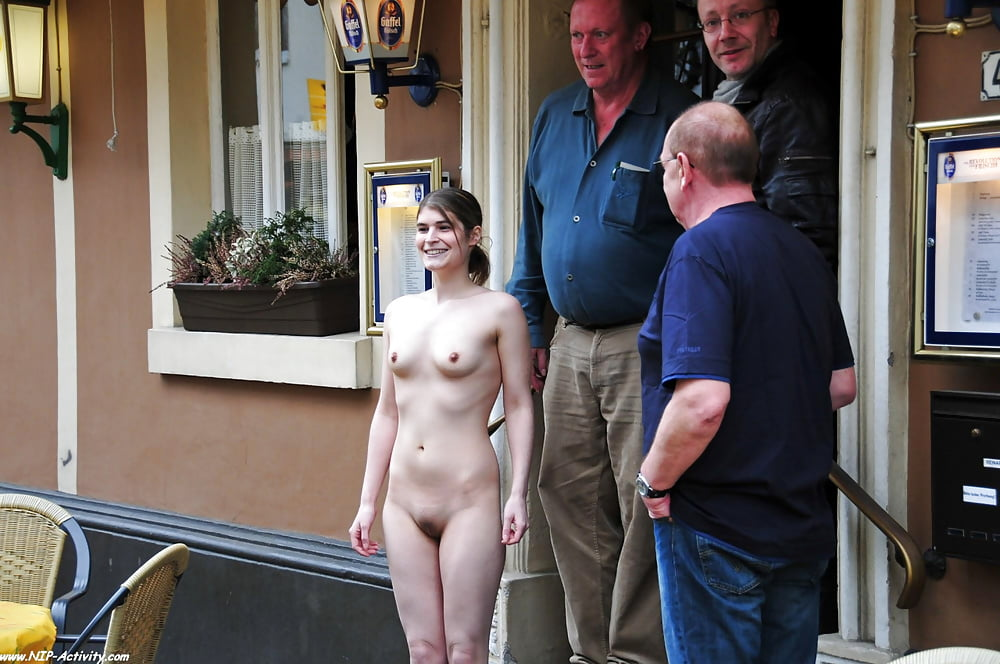 Naked Slut Is Forced To Walk In Circles Outdoors