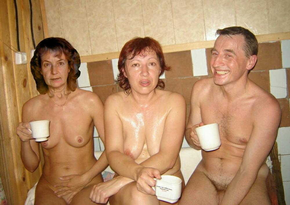 Мокрые фото пожилых пар в бане туго попку