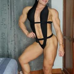 Female Muscles In Black Bikini