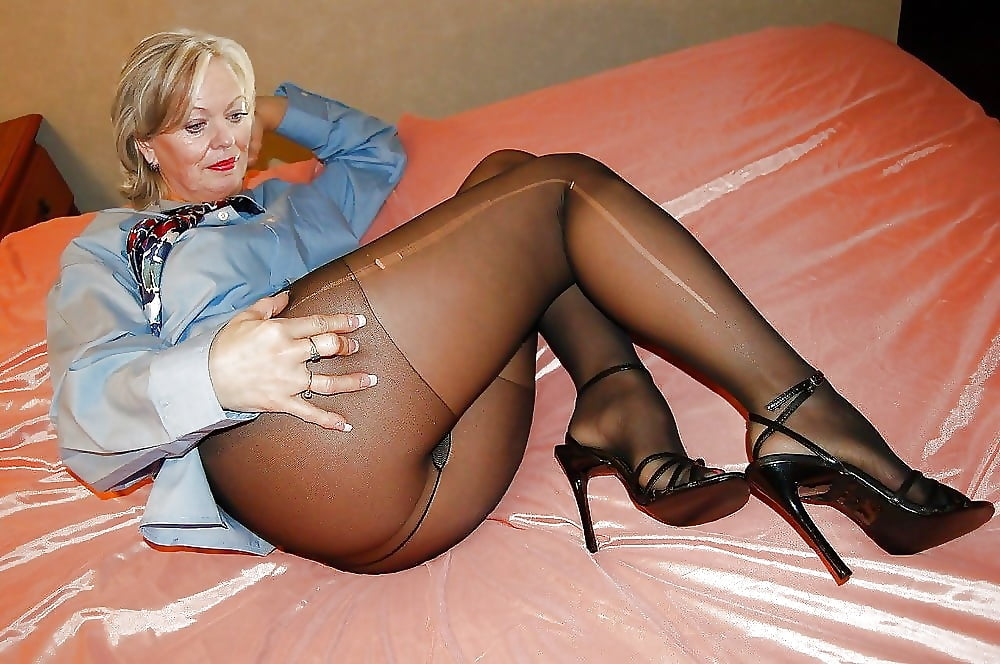 Shiny stockings and nylons