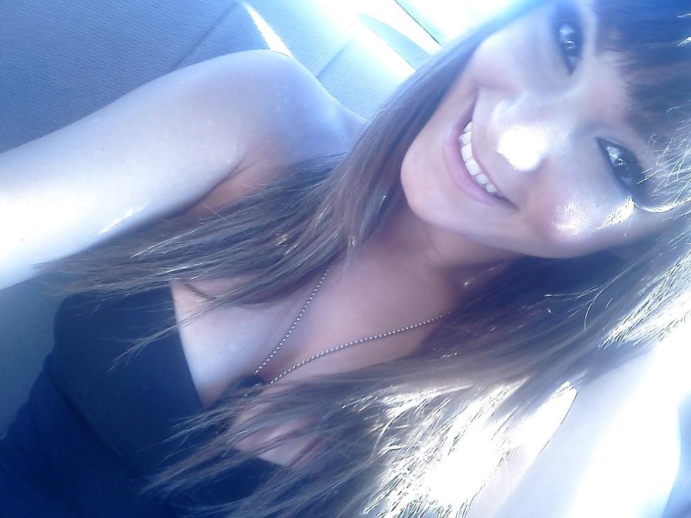 Hot brunette college girl-8682