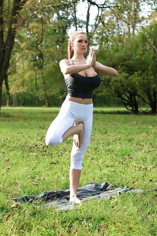 Yoga big tits porn