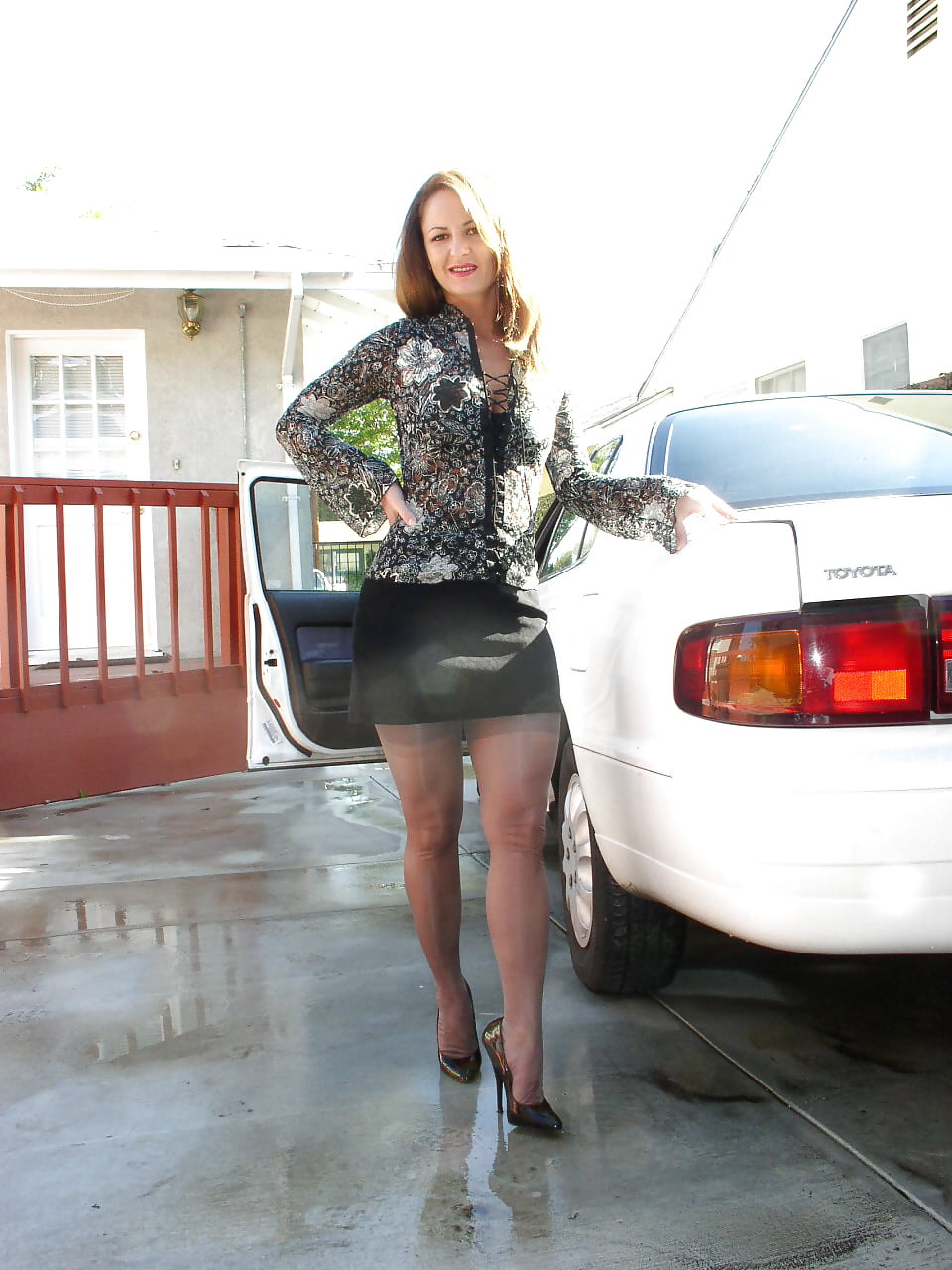 Busty Brunette Milf Fucks Outdoors With A Truck Driver
