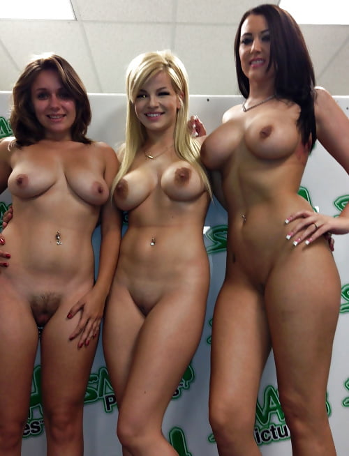 Sexy nude group selfshots black and
