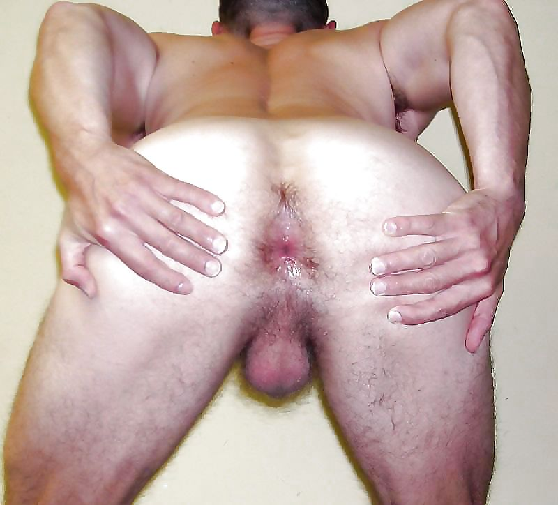 Man Ass Twerk Shaved Balls And Asshole With Cockring Spread Ass Cheeks