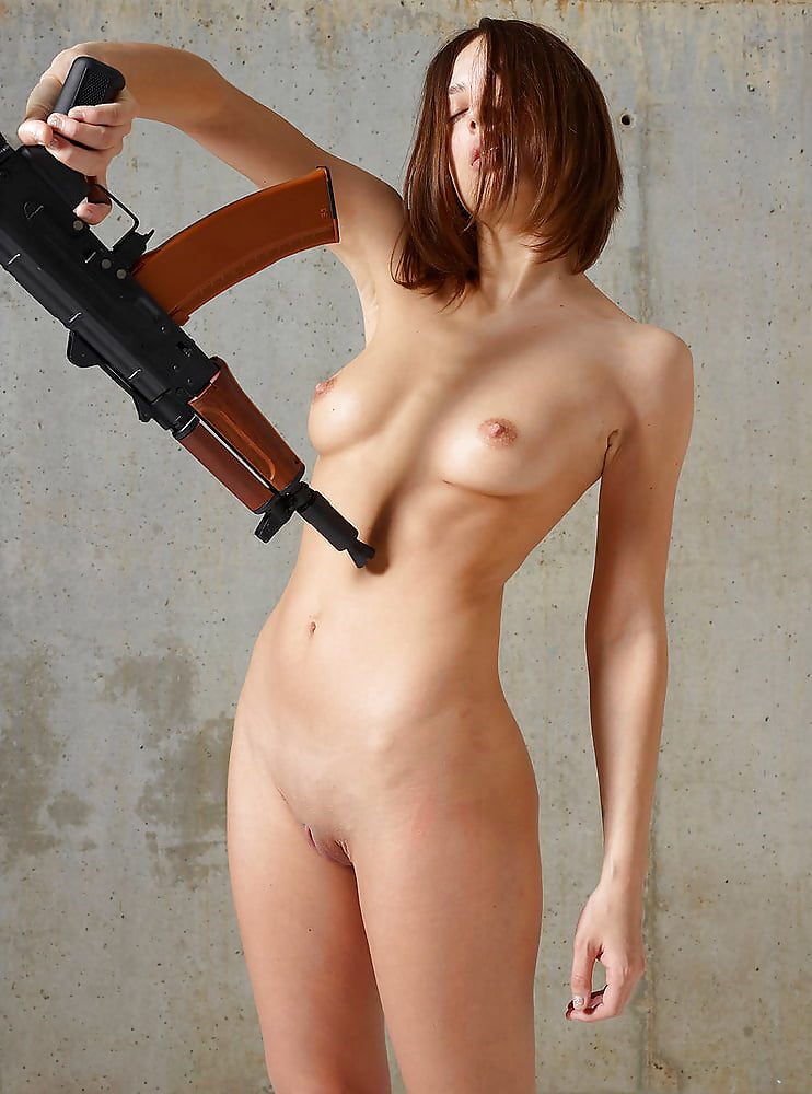 Naked Woman Gun Images, Stock Photos Vectors