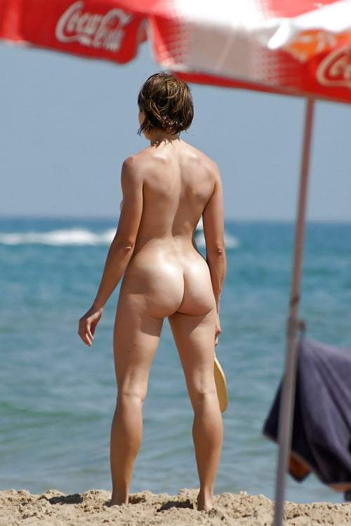 Daring nudists stripping off