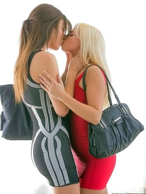 Sexy lesbians get horny making out and taking their clothes off